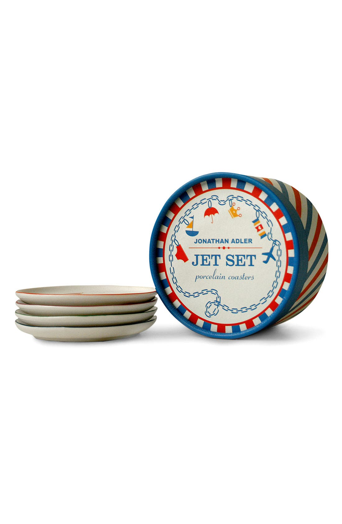 Alternate Image 2  - Jonathan Adler 'Jet Set' Porcelain Coasters