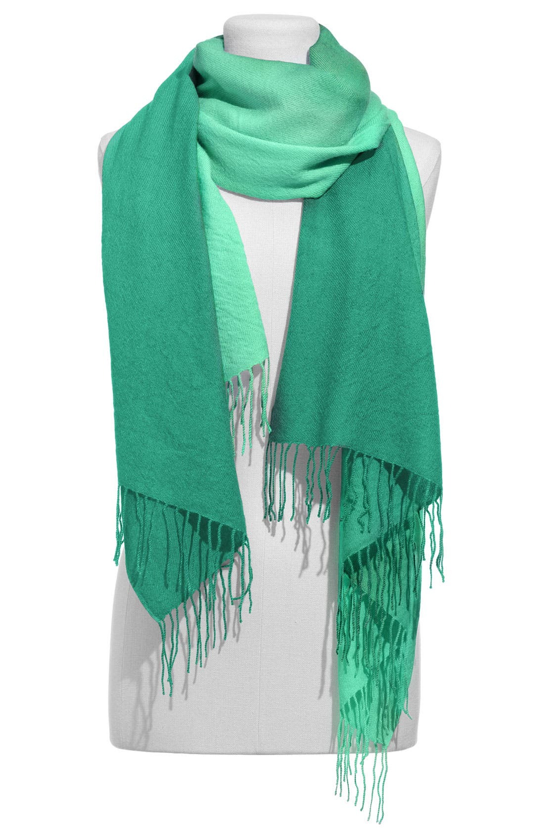 Alternate Image 1 Selected - Nordstrom Tissue Weight Ombré Cashmere & Wool Scarf