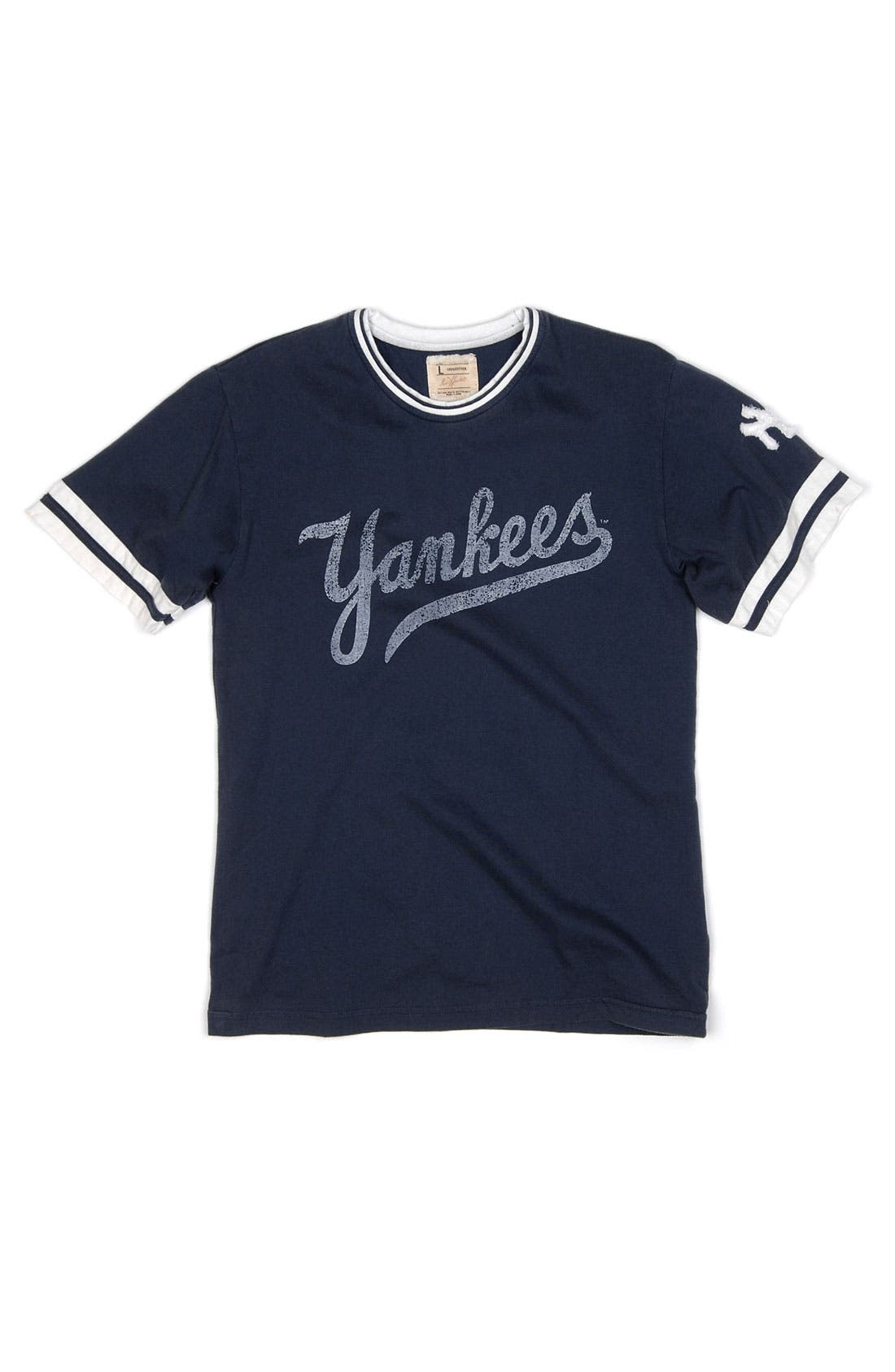 Alternate Image 1 Selected - Red Jacket 'New York Yankees' Trim Fit Ringer T-Shirt (Men)