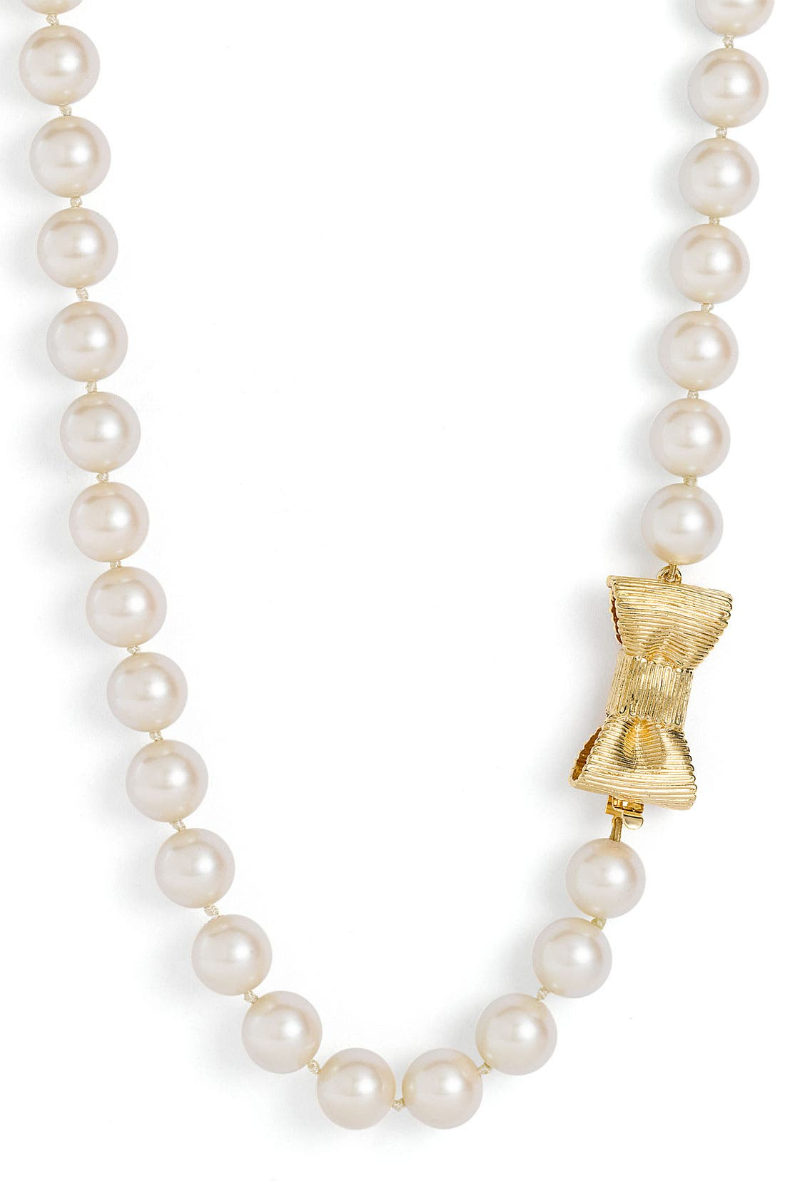 Main Image - kate spade new york 'all wrapped up' glass pearl long necklace
