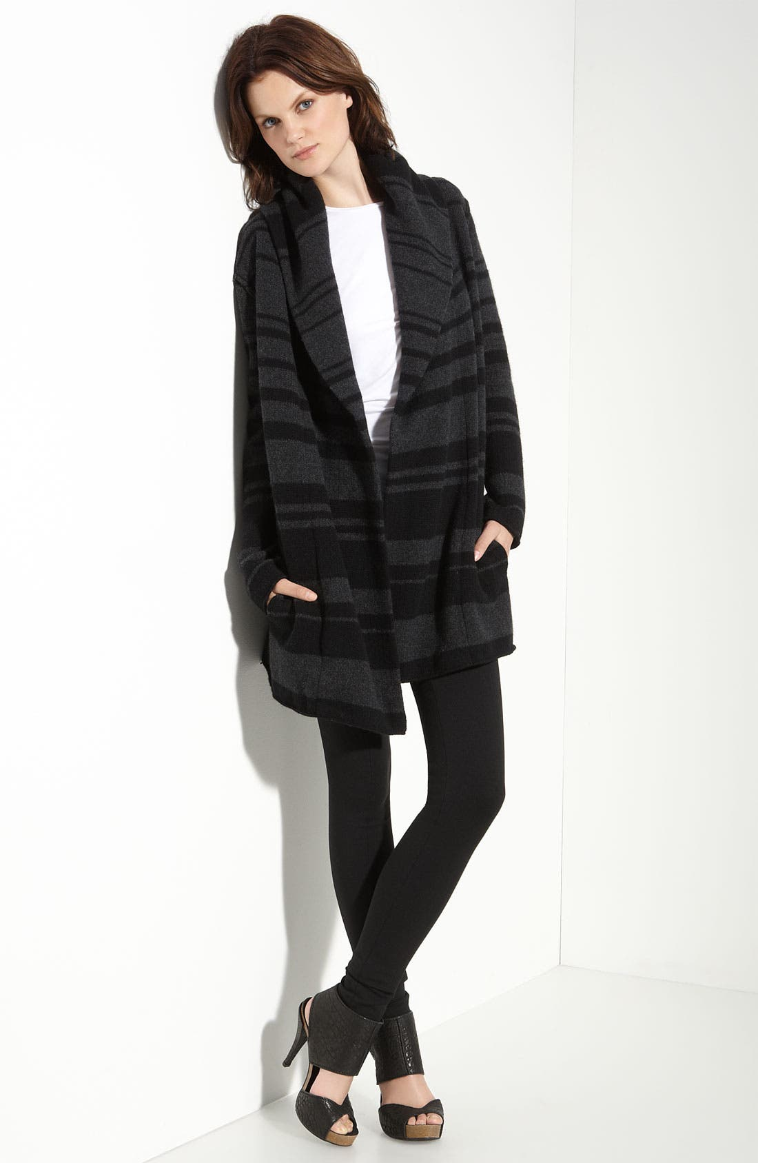 Alternate Image 1 Selected - Vince Stripe Blanket Coat