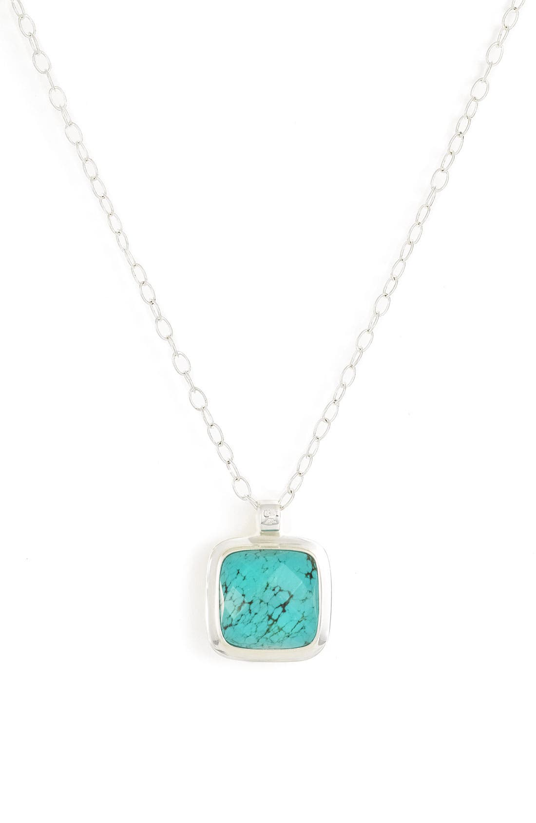 Alternate Image 1 Selected - Anthology Semiprecious Square Pendant Long Reversible Necklace