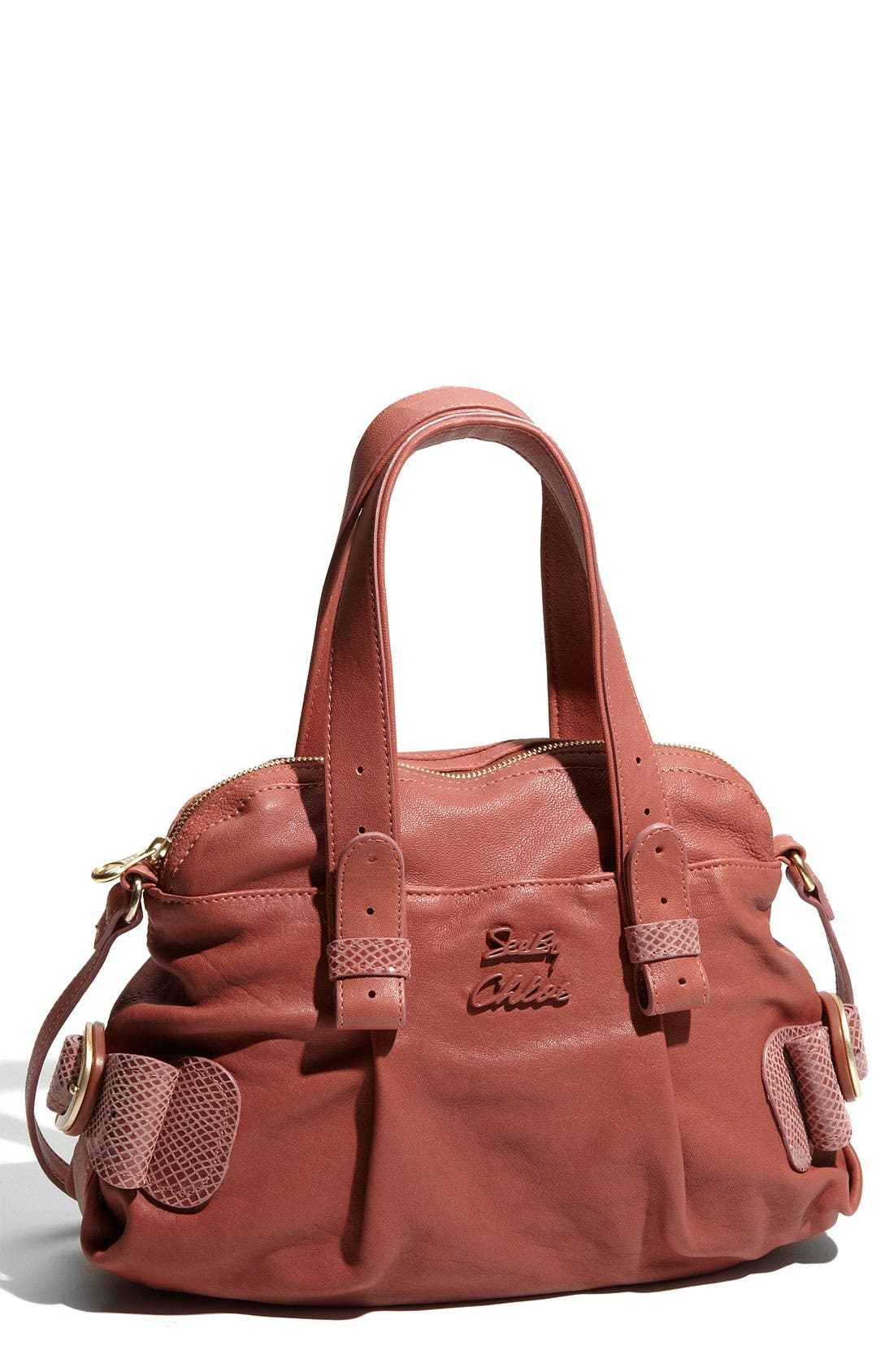 Alternate Image 1 Selected - See By Chloé 'Daumi' Leather Satchel