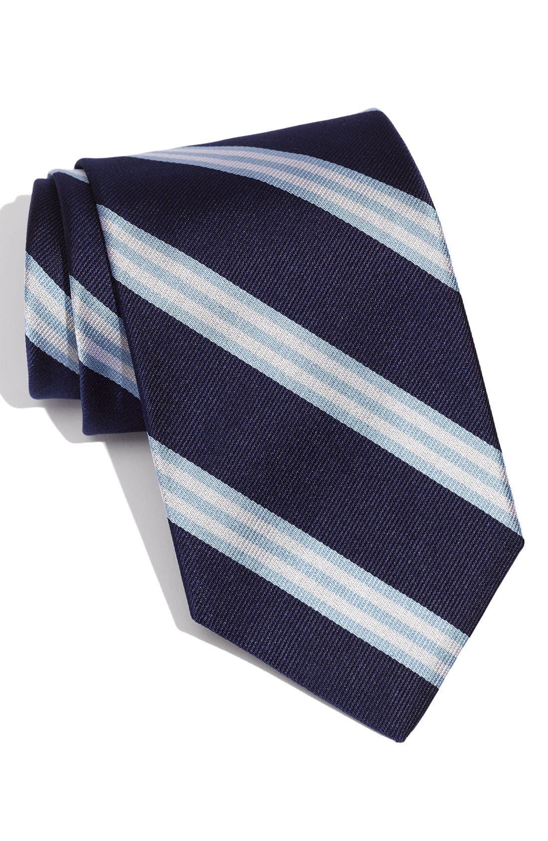 Main Image - Brooks Brothers Woven Silk Tie