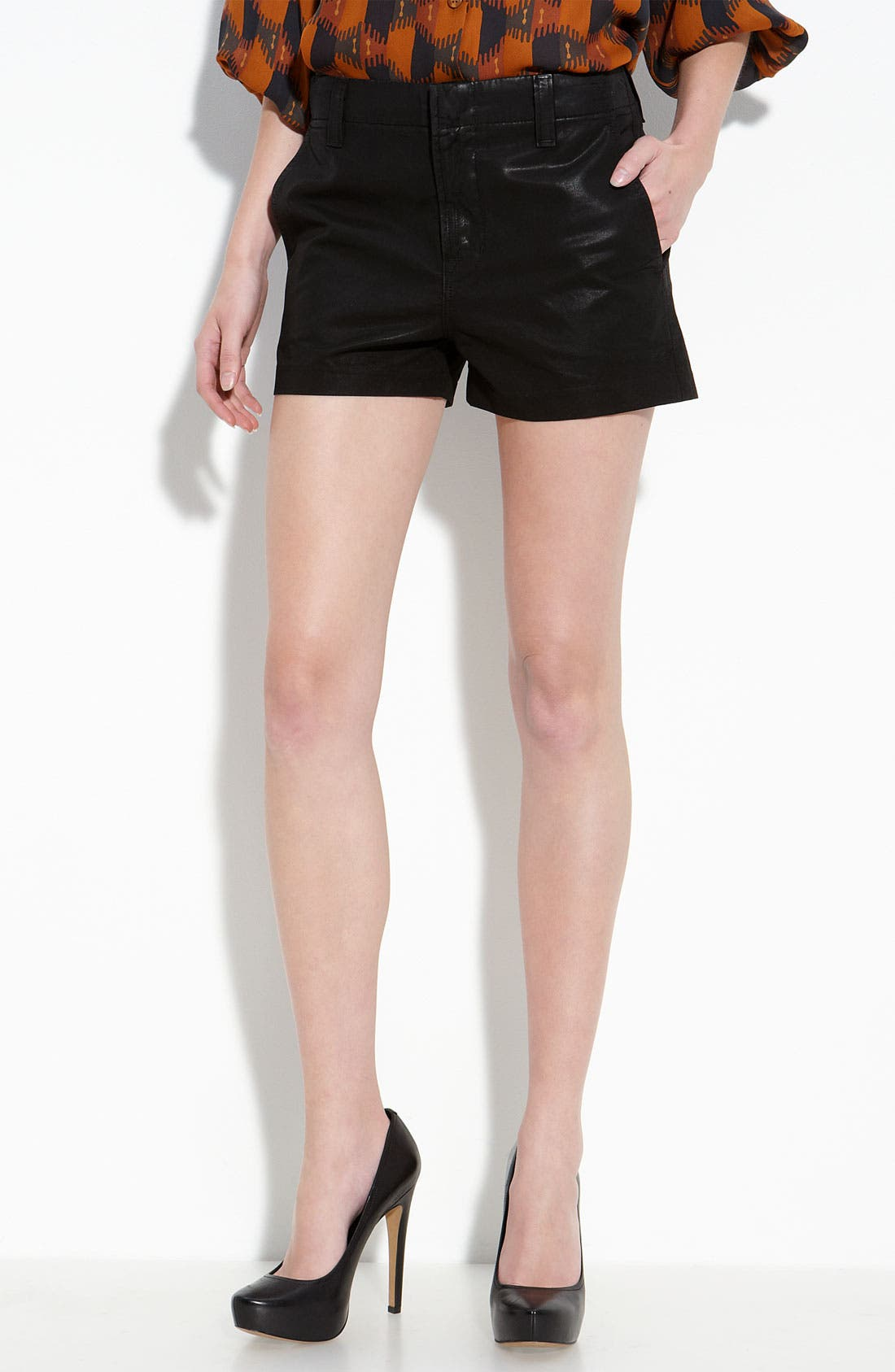 Alternate Image 1 Selected - J Brand 'Lola' High Rise Wax Coated Denim Shorts