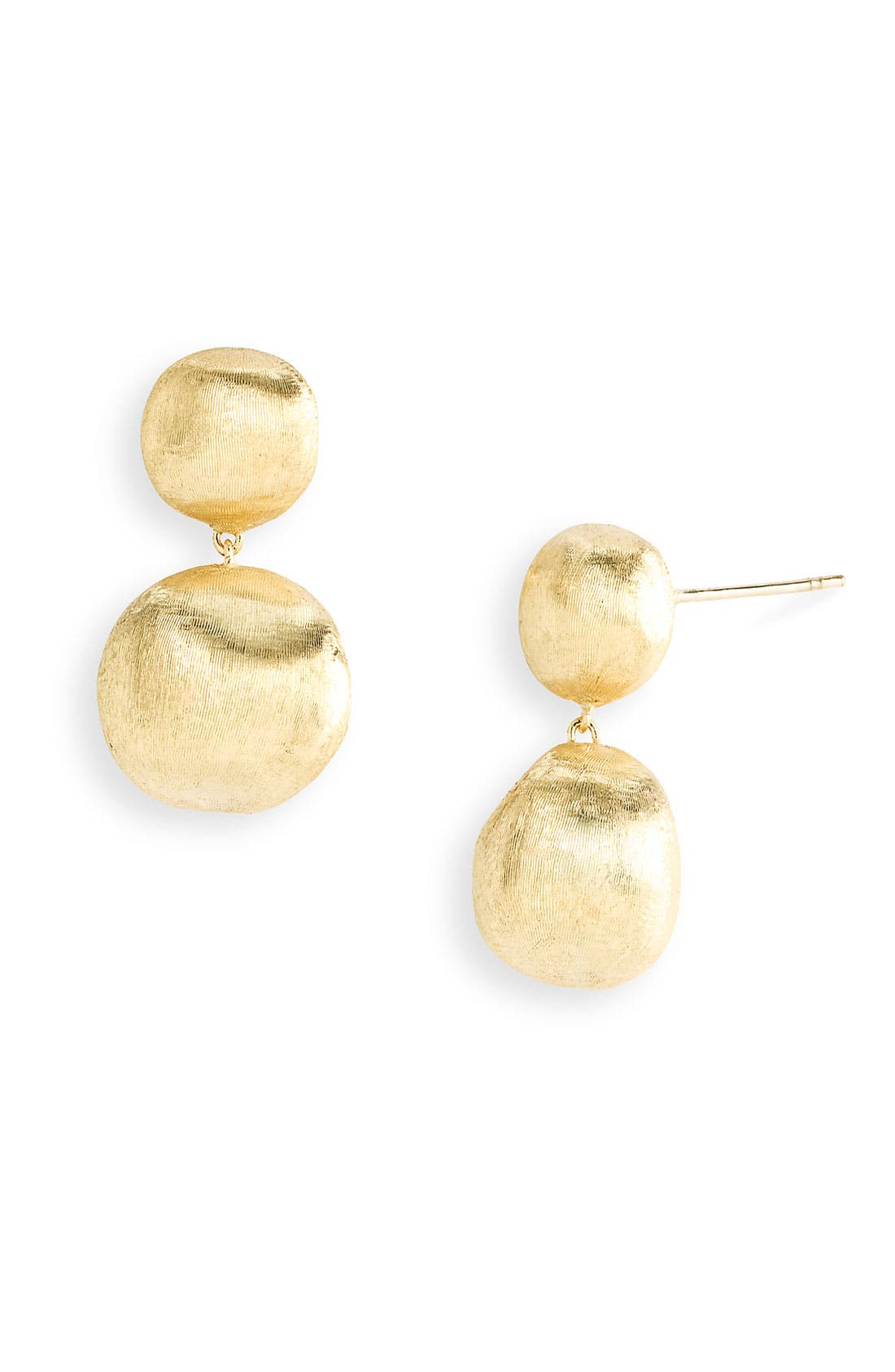 Alternate Image 1 Selected - Marco Bicego 'Africa Gold' Double Drop Earrings