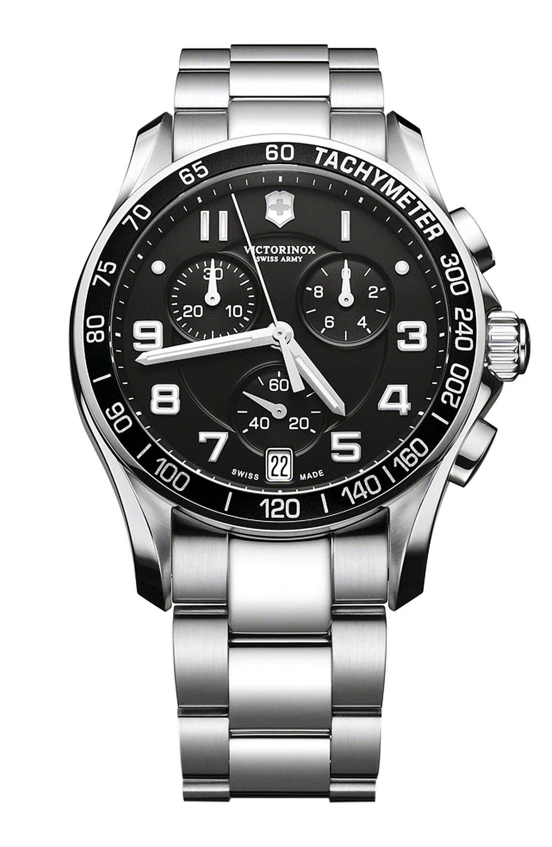 Alternate Image 1 Selected - Victorinox Swiss Army® 'Chrono Classic' Bracelet Watch, 41mm