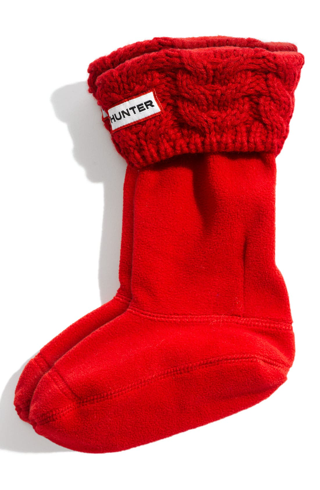 Alternate Image 1 Selected - Hunter 'Chunky' Cabled Cuff Socks (Toddler, Little Kid & Big Kid)