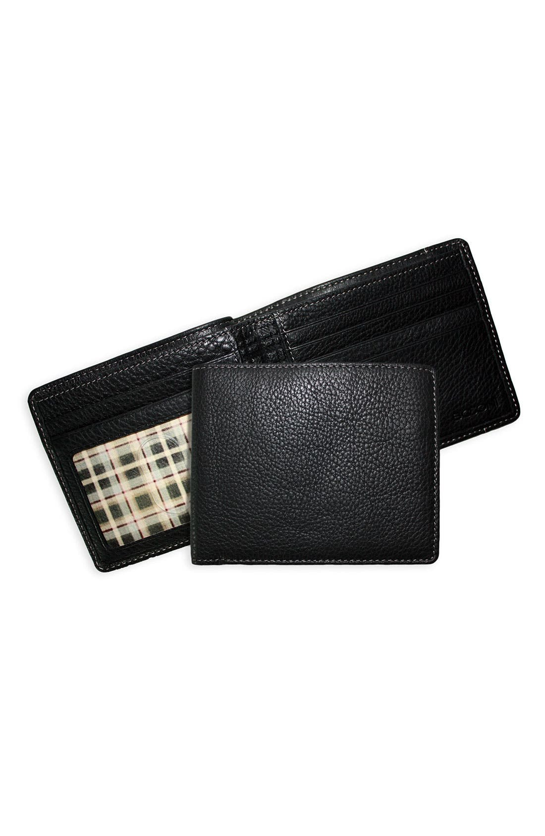 Boconi 'Tyler' Tumbled Leather Billfold