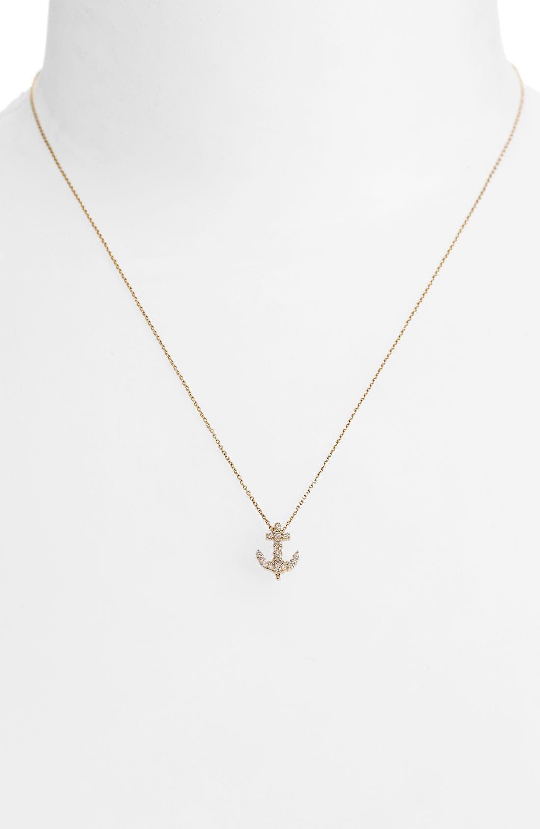 Main Image - Roberto Coin 'Tiny Treasures' Baby Anchor Necklace