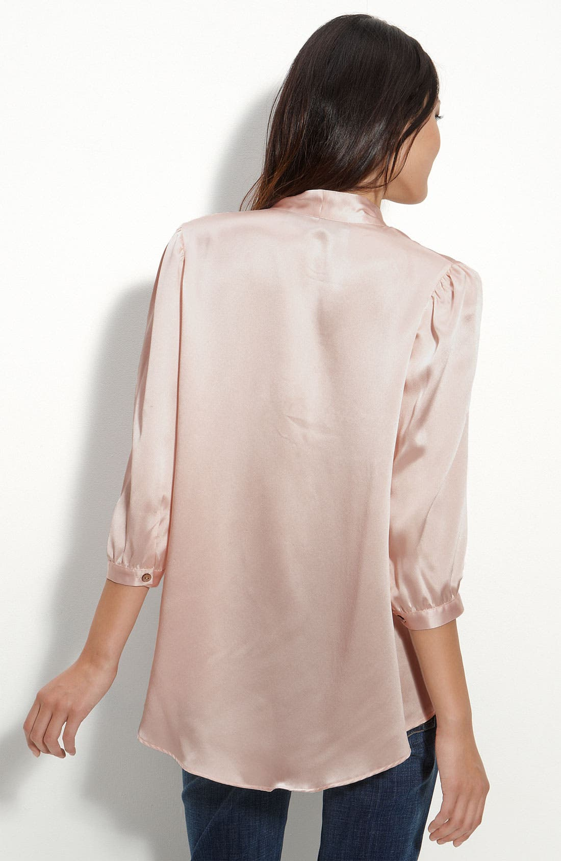 Alternate Image 2  - Remain Tie Neck Satin Blouse