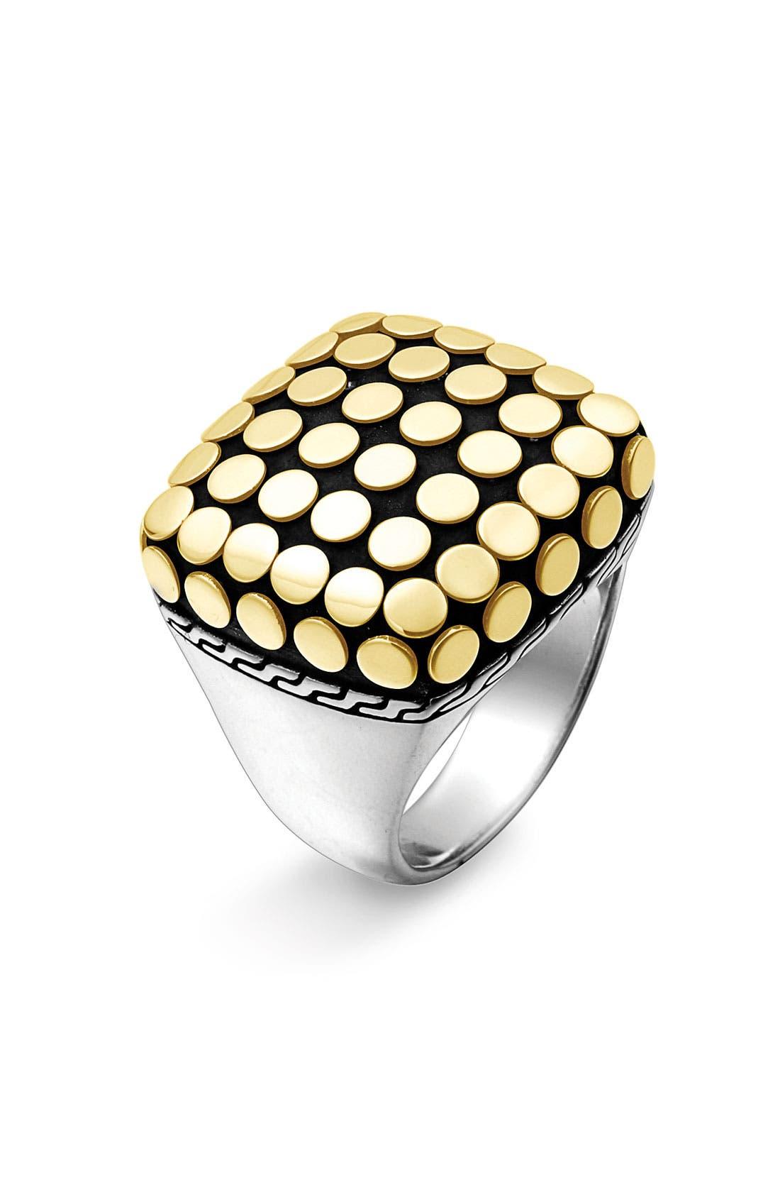 Alternate Image 1 Selected - John Hardy 'Dot Gold' Square Ring