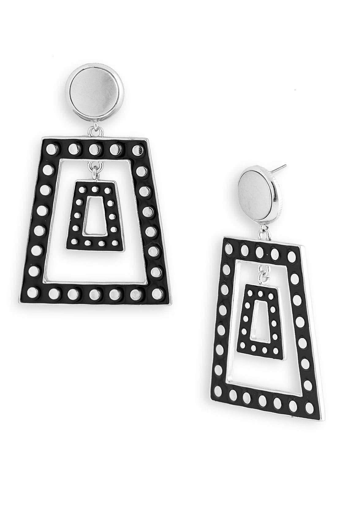 Alternate Image 1 Selected - Belle Noel Disc Trapezoid Earrings