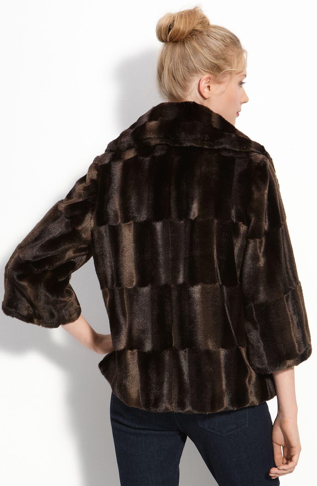 Alternate Image 2  - Tahari 'Tara' Faux Fur Coat