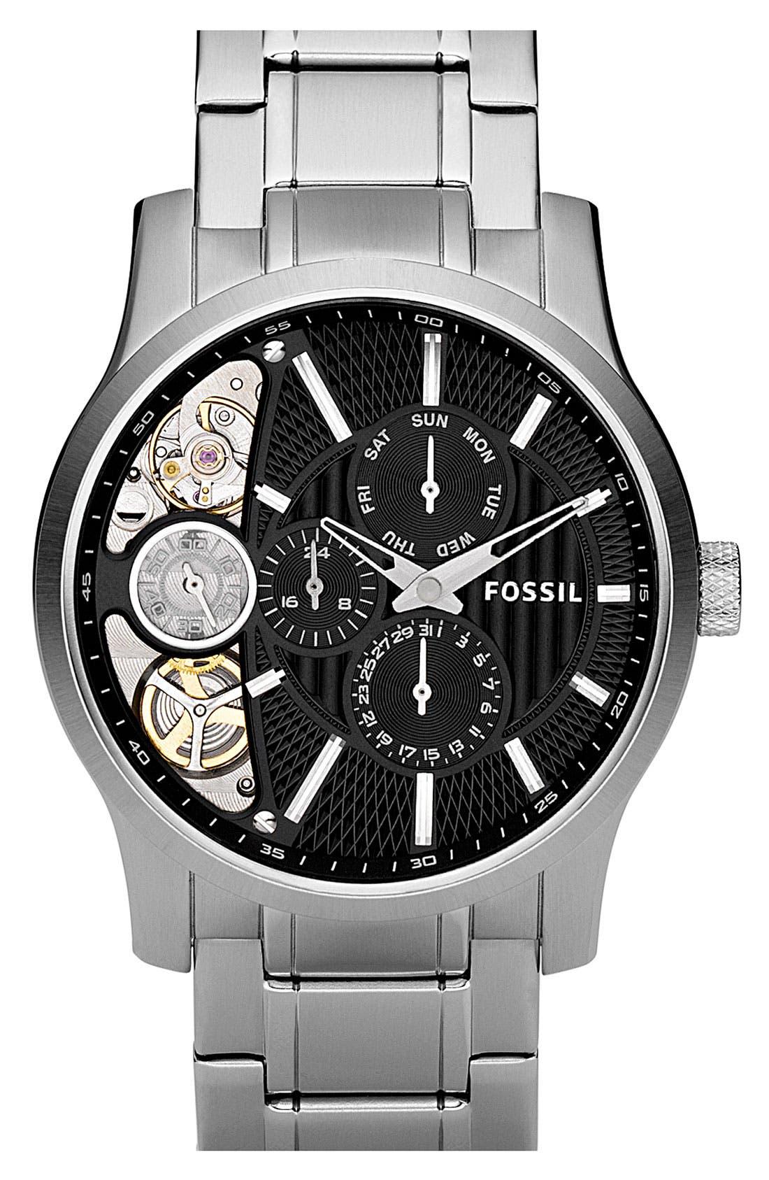 Alternate Image 1 Selected - Fossil 'Twist' Bracelet Watch, 42mm