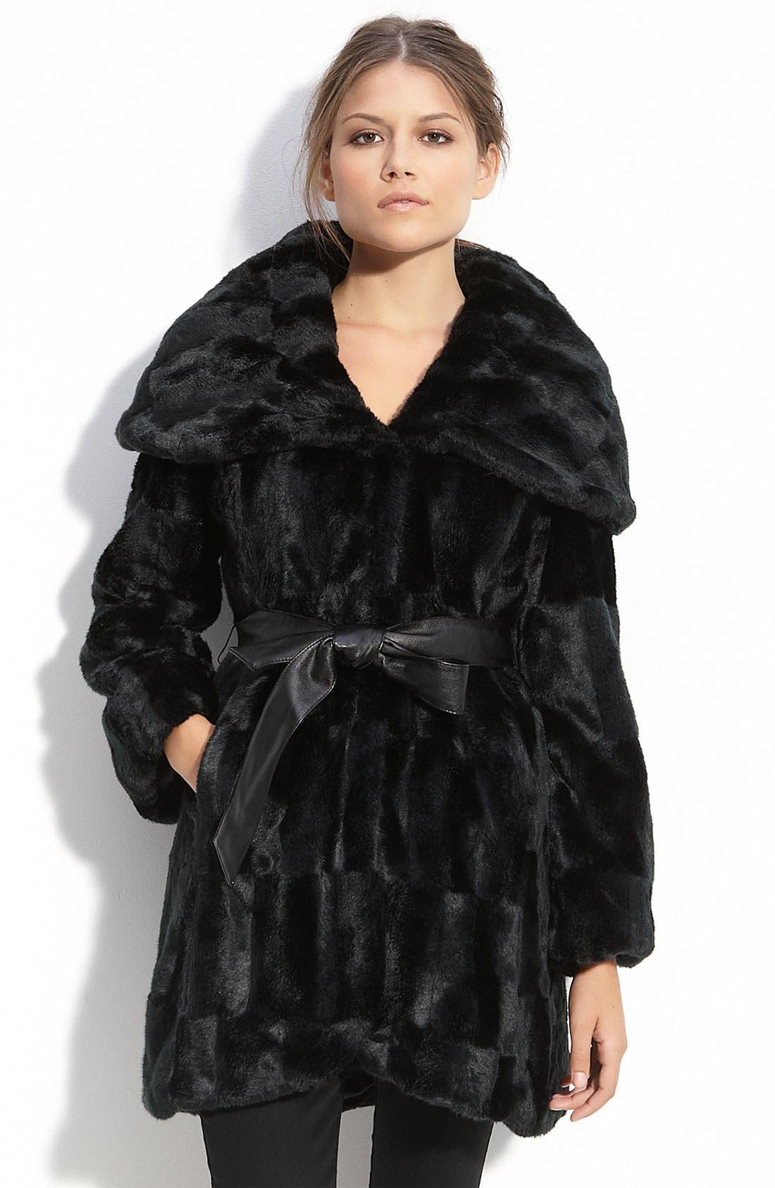Alternate Image 1 Selected - Tahari Hooded Faux Fur Coat
