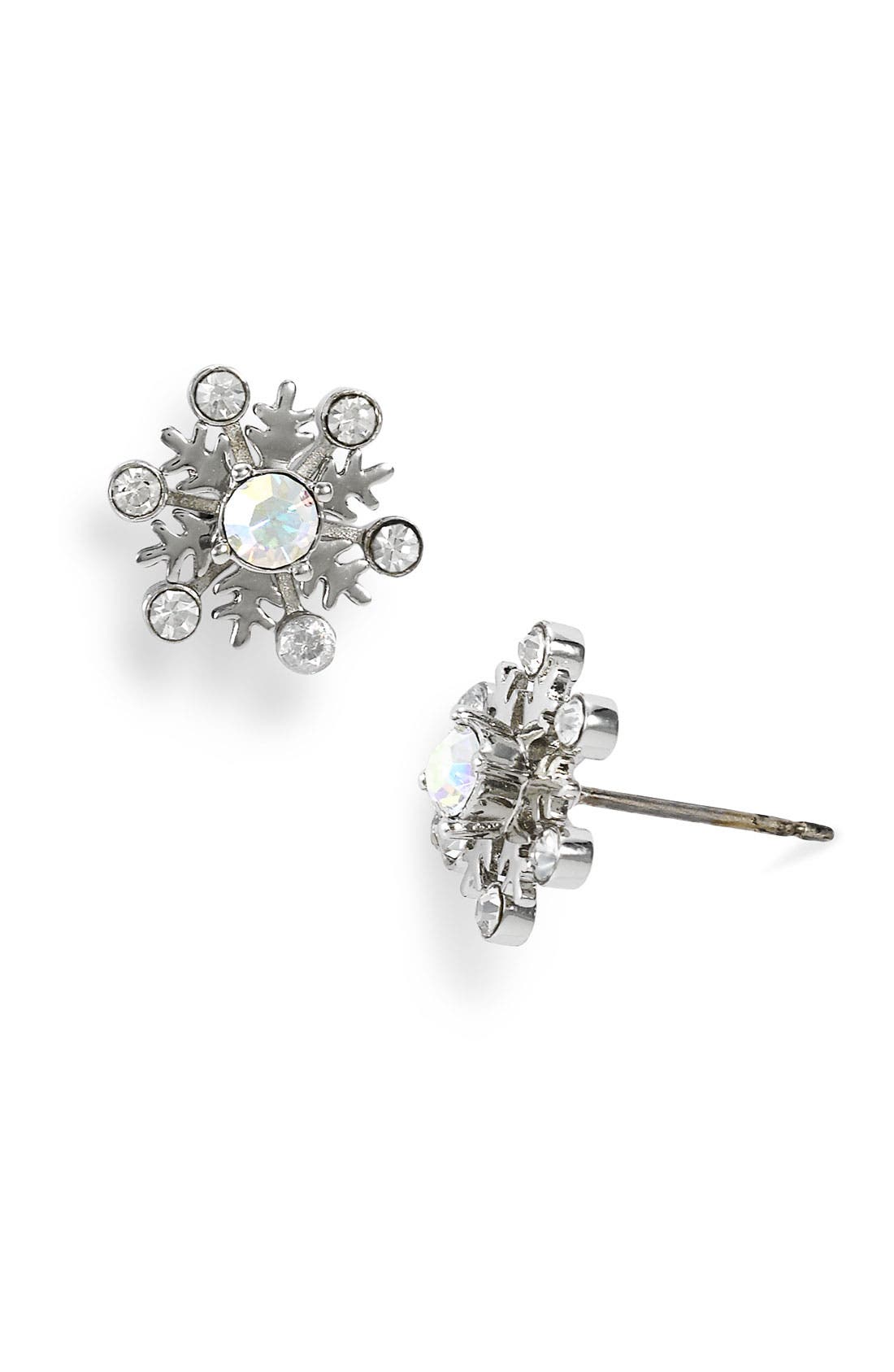 Alternate Image 1 Selected - Juicy Couture 'Bundled in Couture' Snowflake Stud Earrings (Limited Edition)
