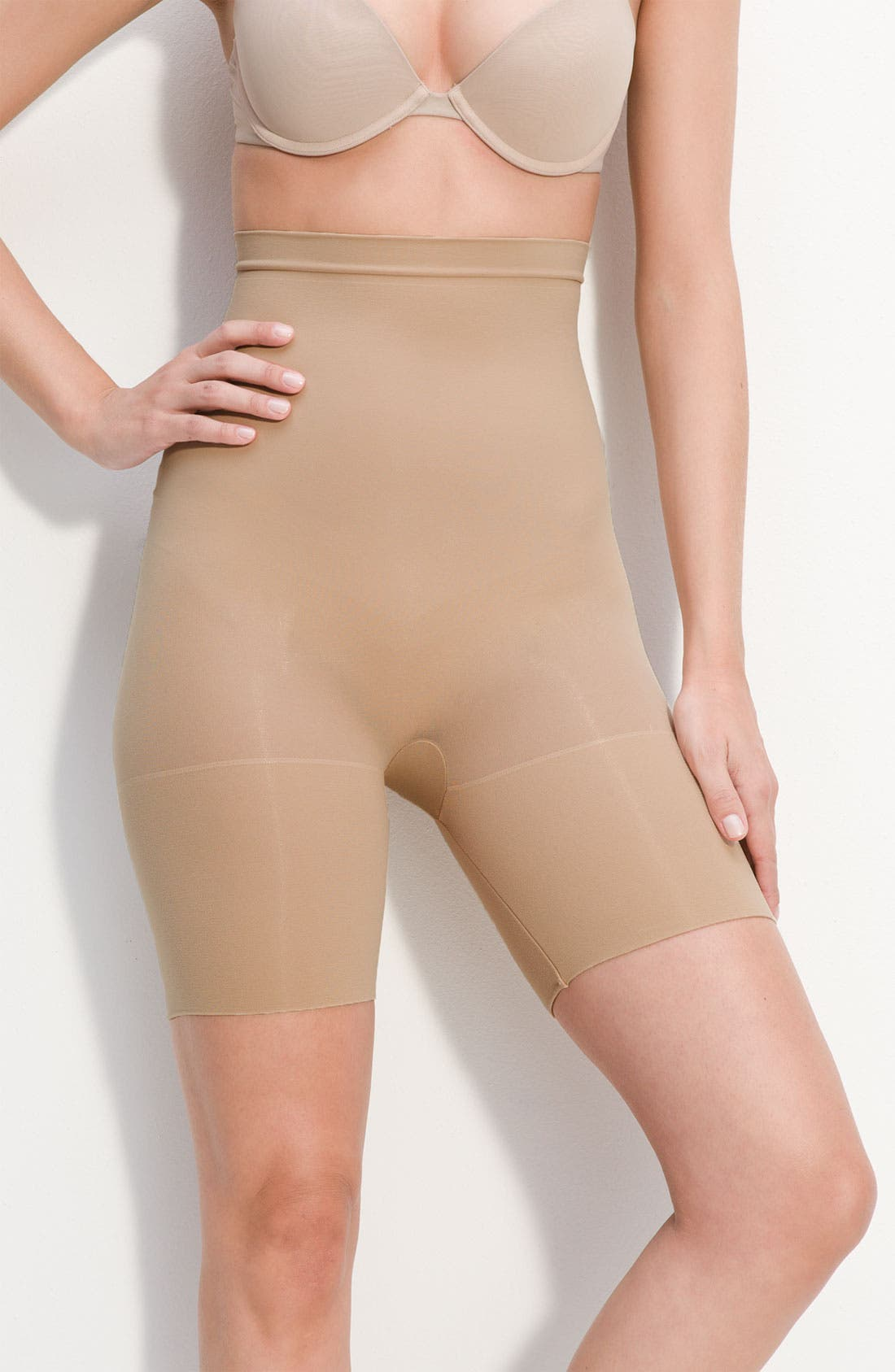 Alternate Image 1 Selected - SPANX® High Waist Mid Thigh Shaper