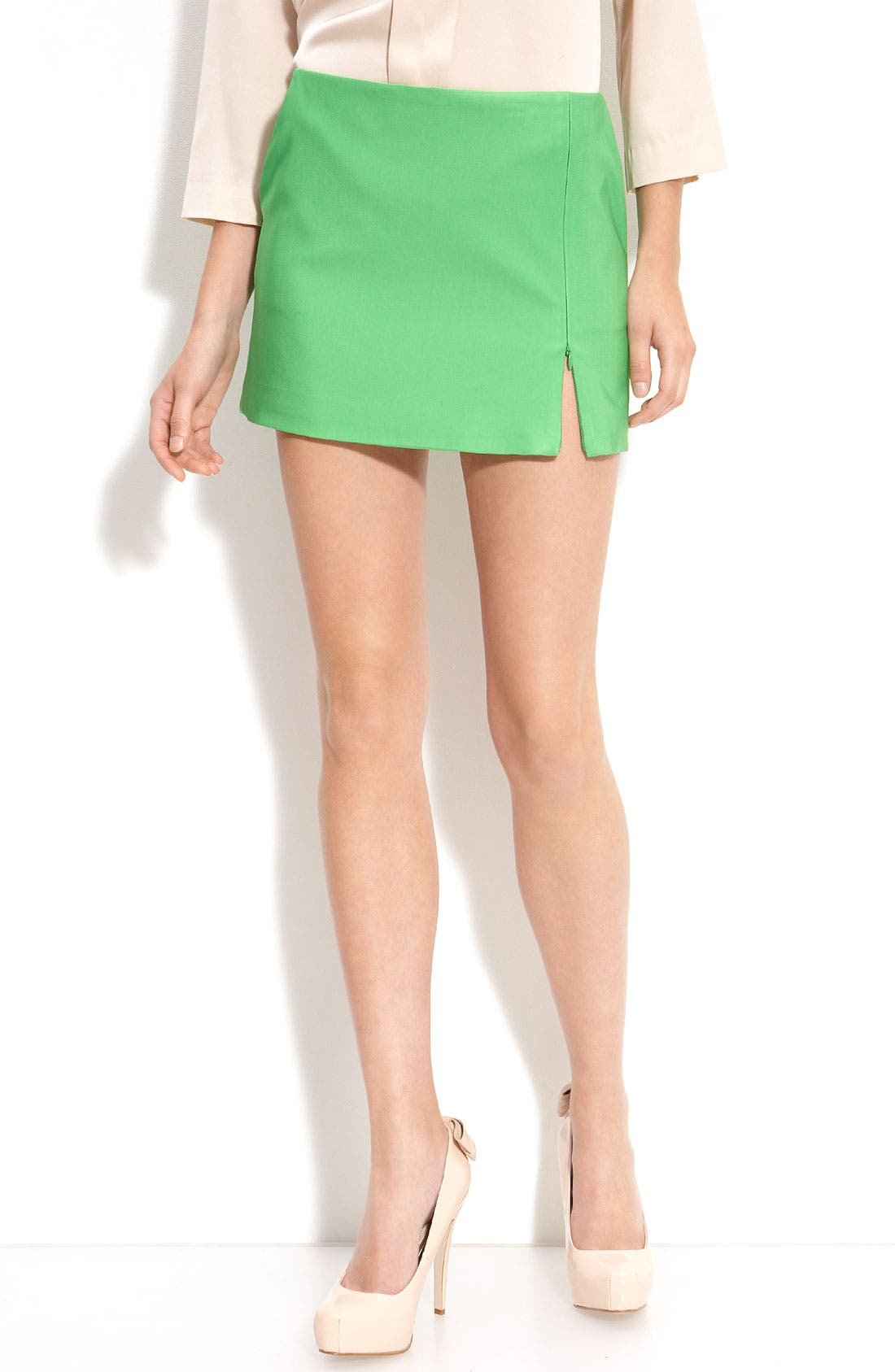 Alternate Image 1 Selected - Diane von Furstenberg 'Azumi' Zip Slit Mini Skirt