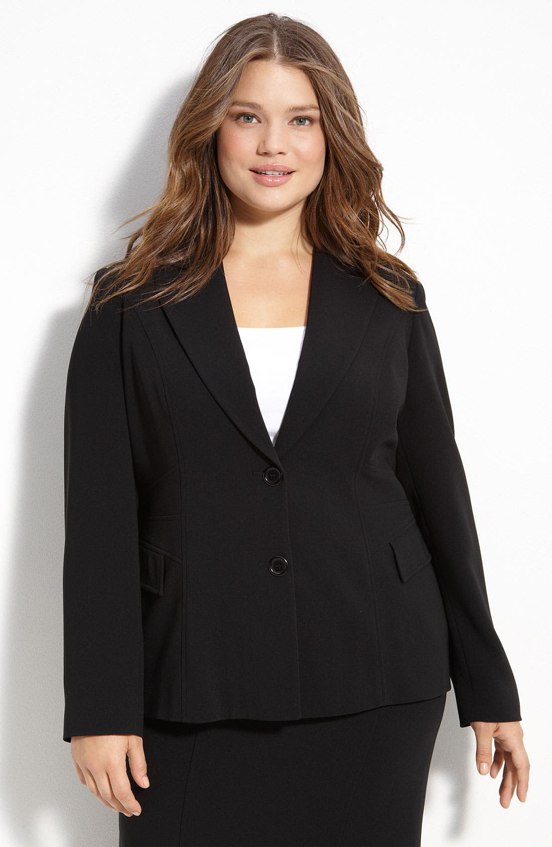 Alternate Image 1 Selected - Louben Two Button Jacket (Plus)