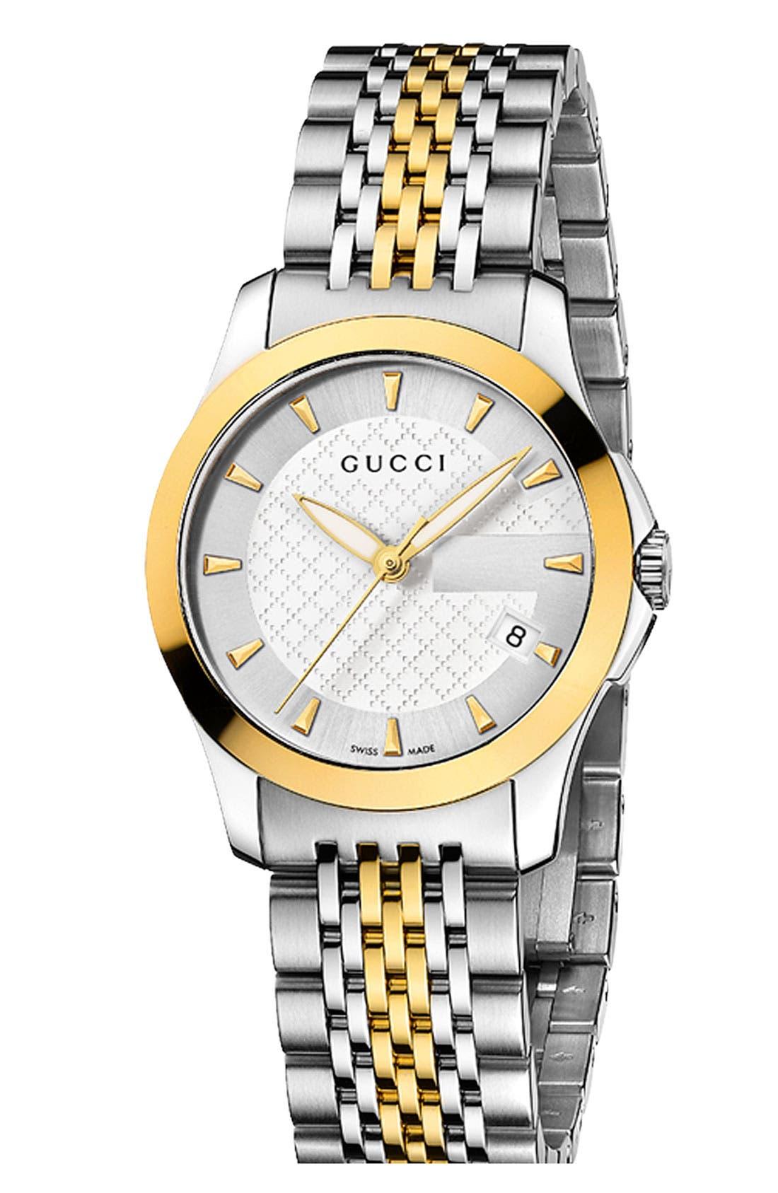 Main Image - Gucci 'G Timeless' Small Bracelet Watch, 27mm