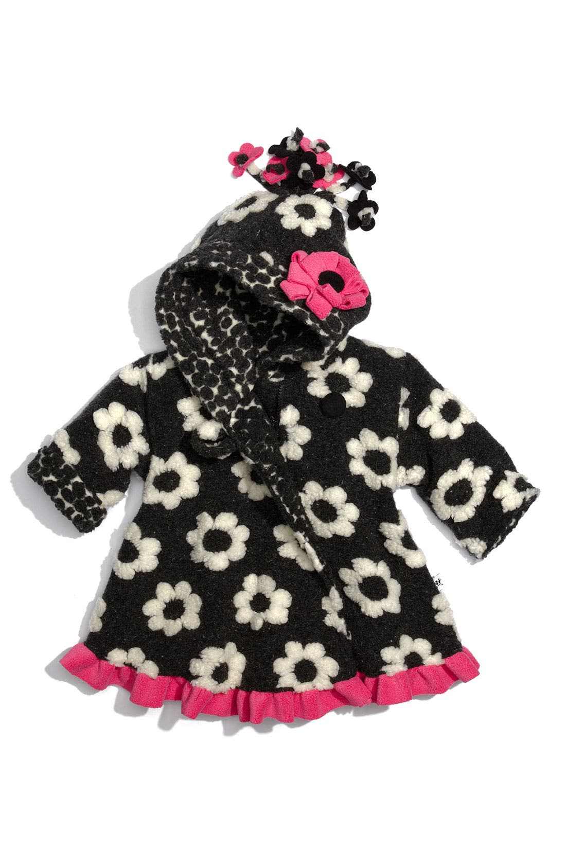 Alternate Image 1 Selected - Corky & Company Flower Swing Coat (Infant)