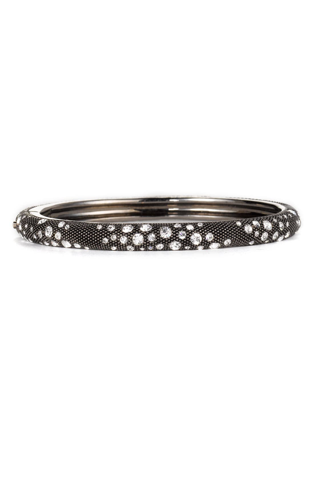 Main Image - Nadri Black & White Crystal Hinged Bangle (Nordstrom Exclusive)