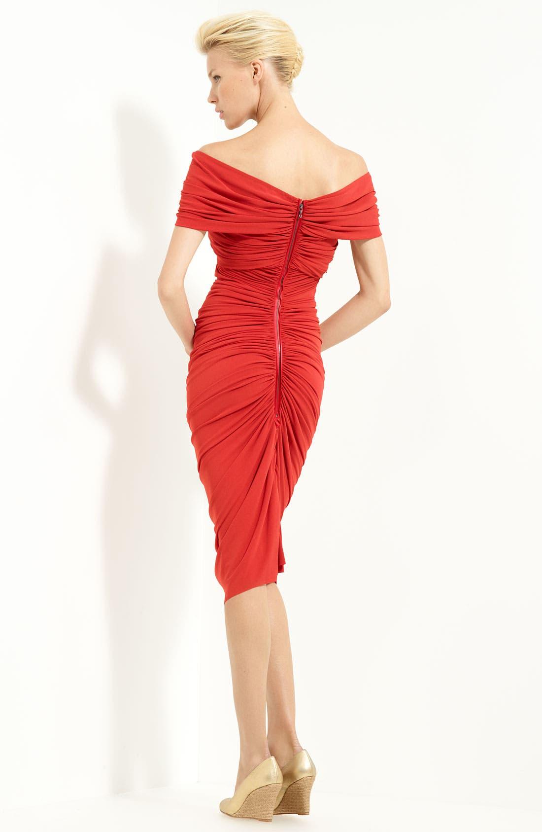 Alternate Image 2  - Lanvin Techno Jersey Off Shoulder Dress