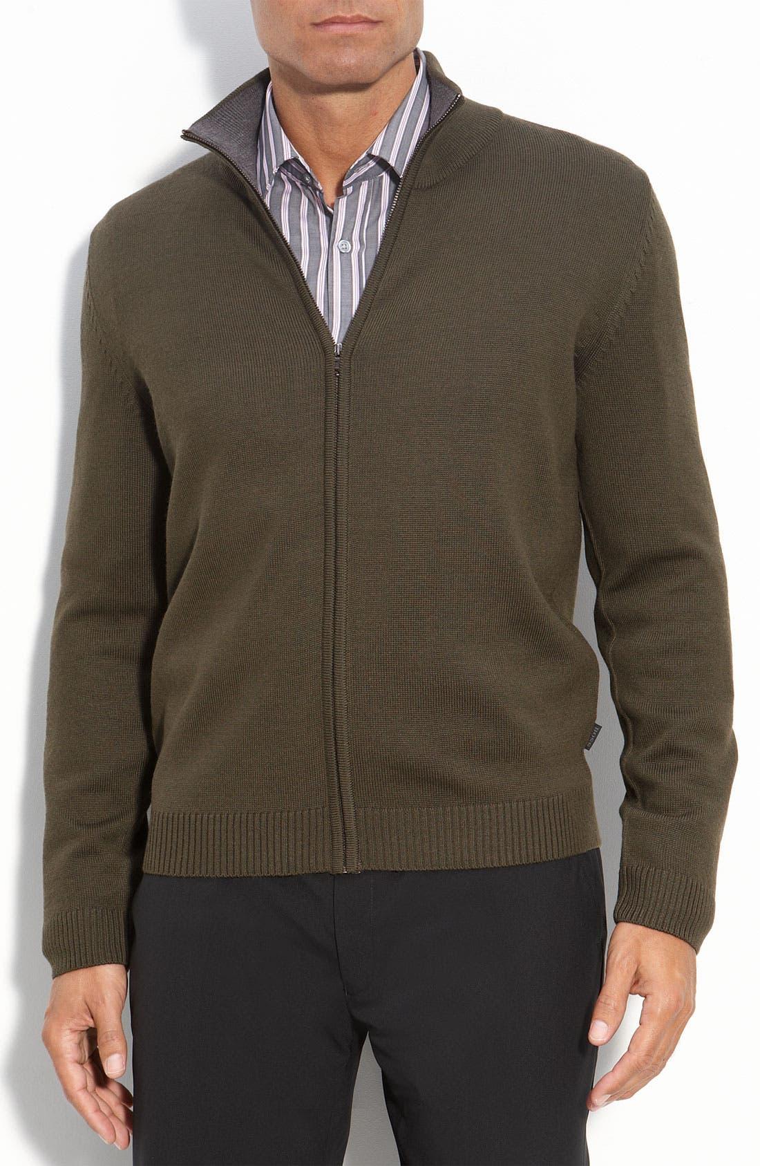 Alternate Image 1 Selected - BOSS Black Regular Full Zip Sweater
