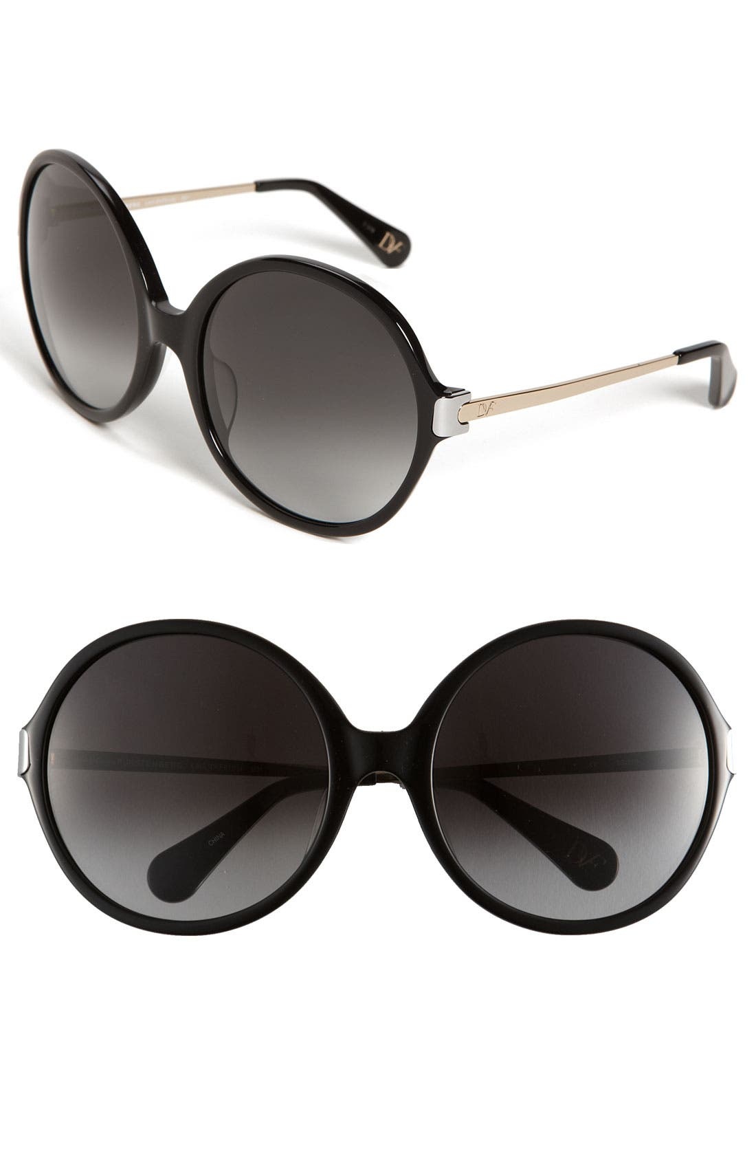 Alternate Image 1 Selected - Diane von Furstenberg 'Lais' Oversized Round Sunglasses