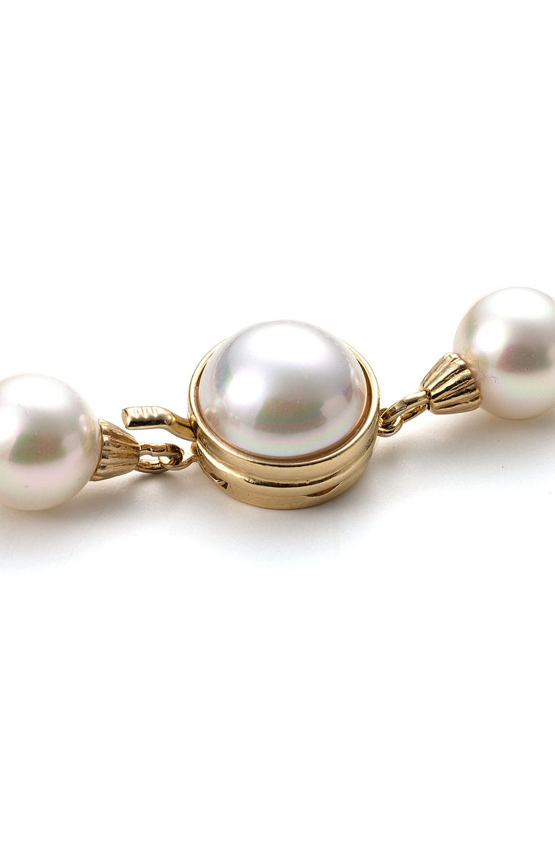 Alternate Image 2  - Majorica 8mm Single Row Pearl Bracelet