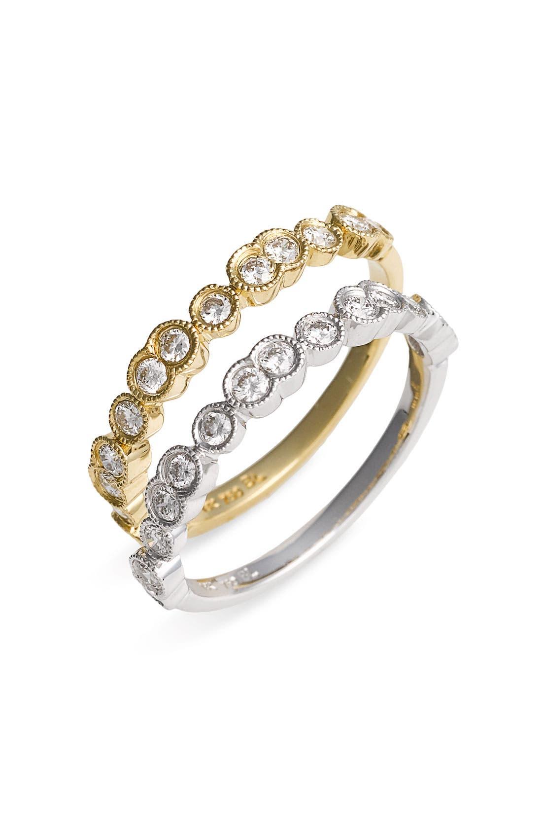 Main Image - Bony Levy Stackable Bezel Set Diamond Ring (Nordstrom Exclusive)