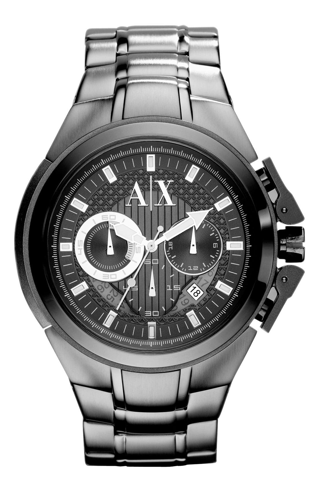 Alternate Image 1 Selected - AX Armani Exchange Men's Chronograph Bracelet Watch
