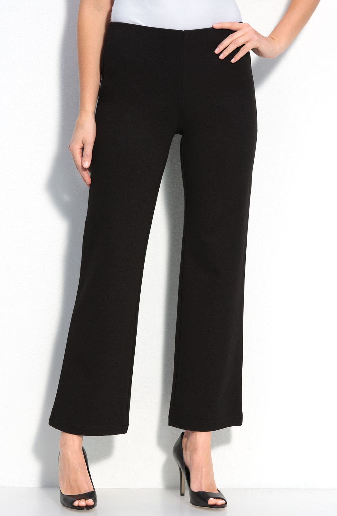 Alternate Image 1 Selected - Eileen Fisher Straight Leg Ponte Pants (Petite)