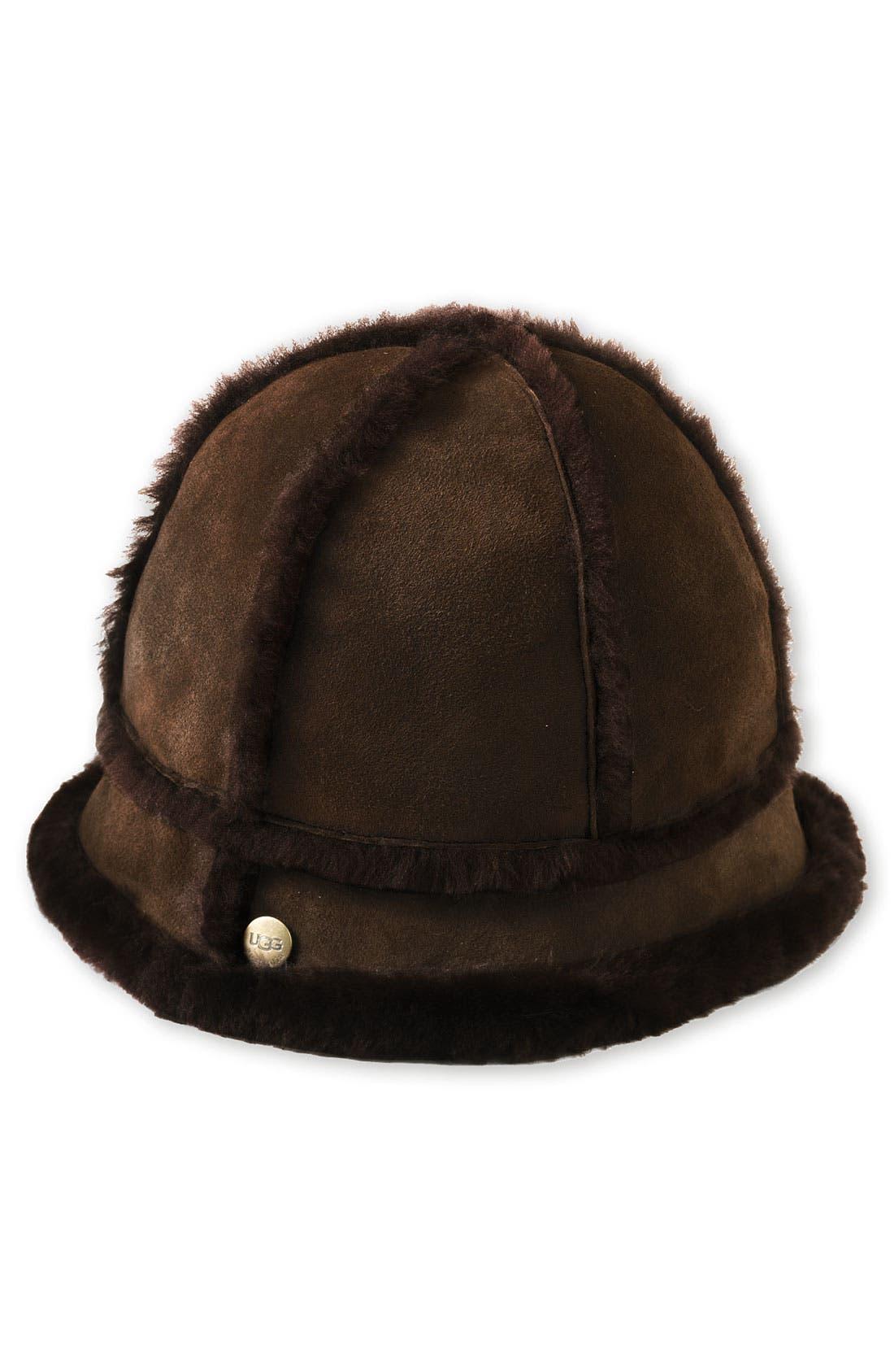 Main Image - UGG® Australia Shearling Bucket Hat