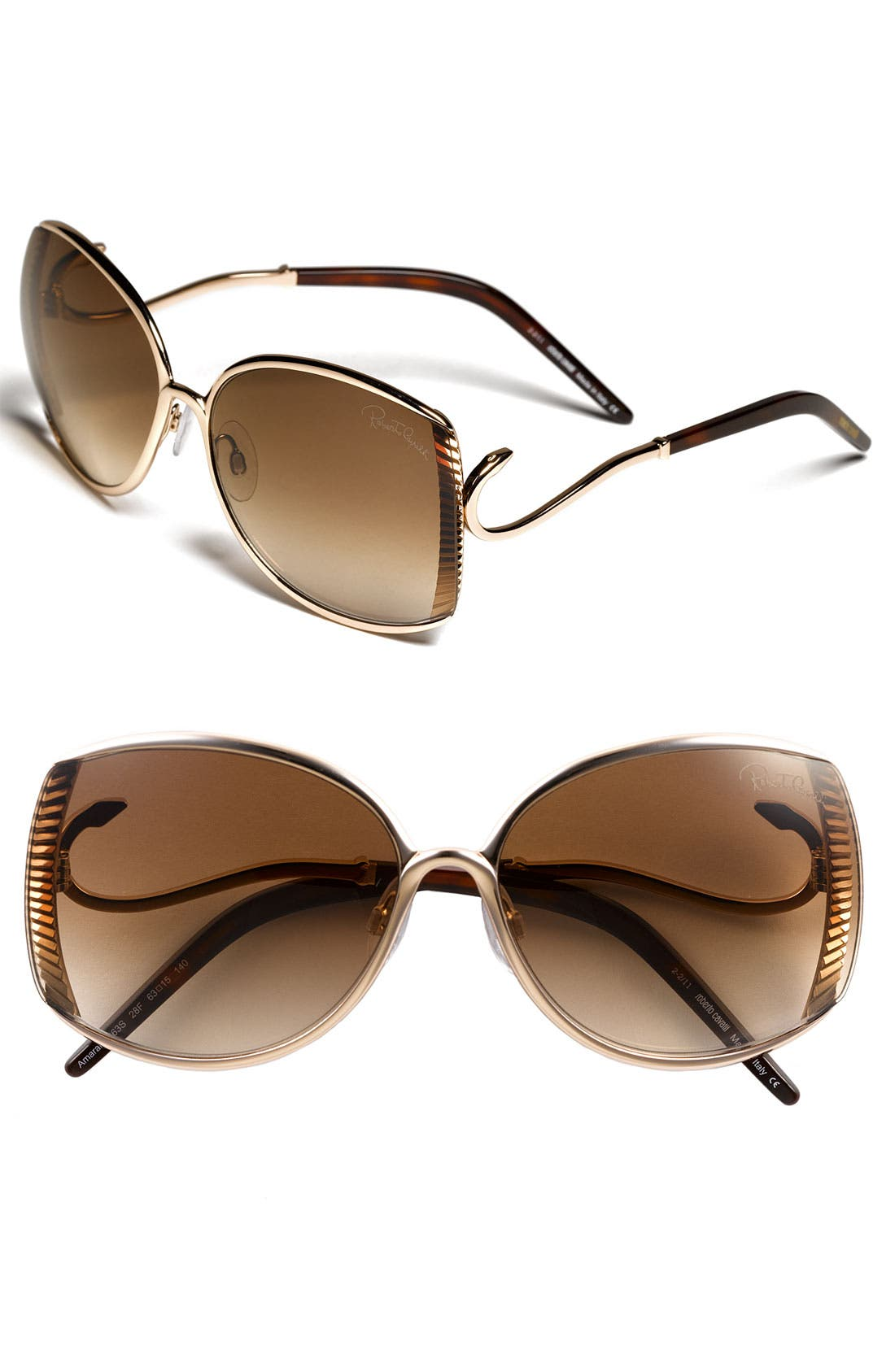 Alternate Image 1 Selected - Roberto Cavalli 63mm Metal Sunglasses