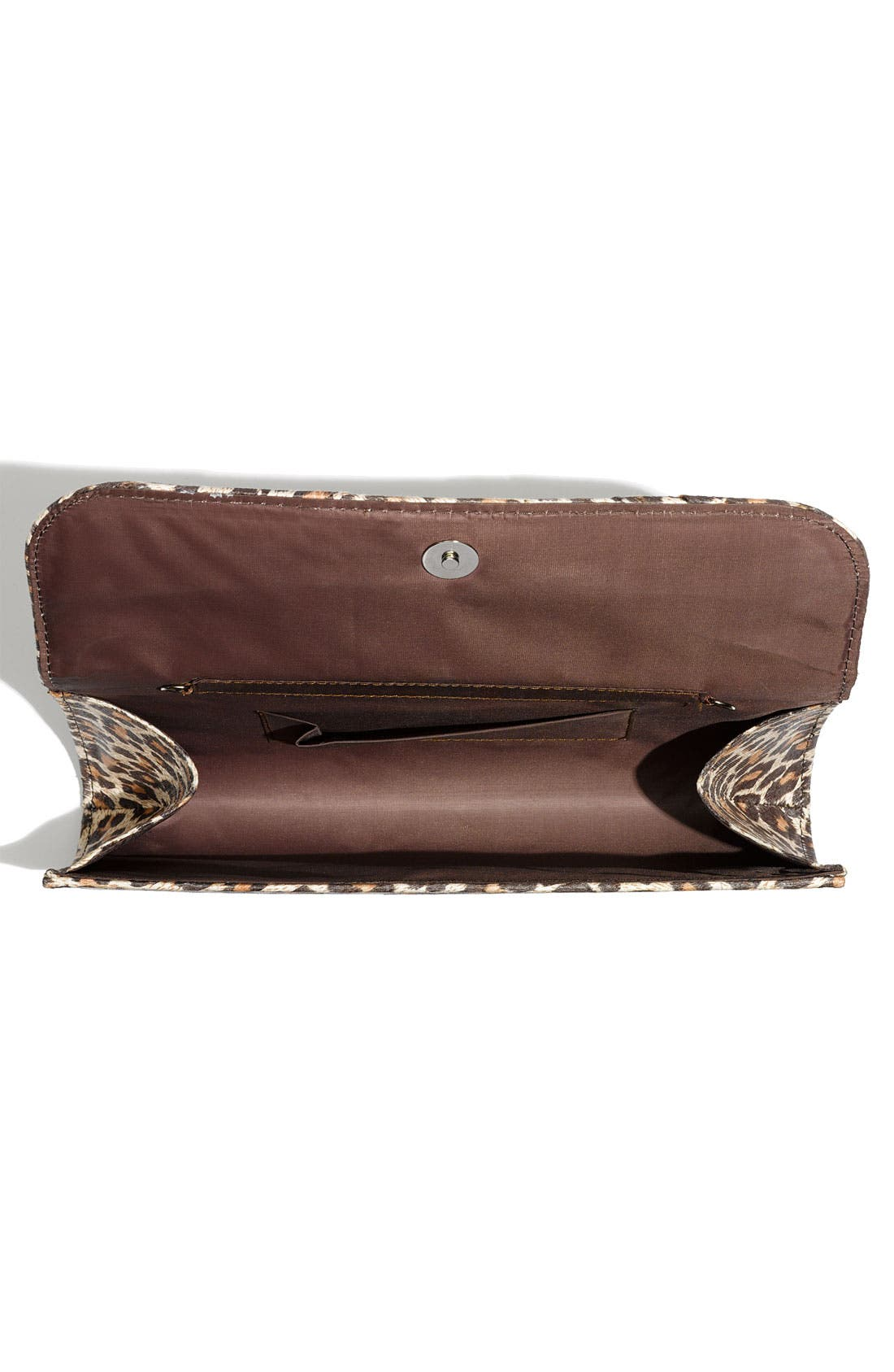 Alternate Image 2  - Top Choice Leopard Print Embellished Bow Clutch