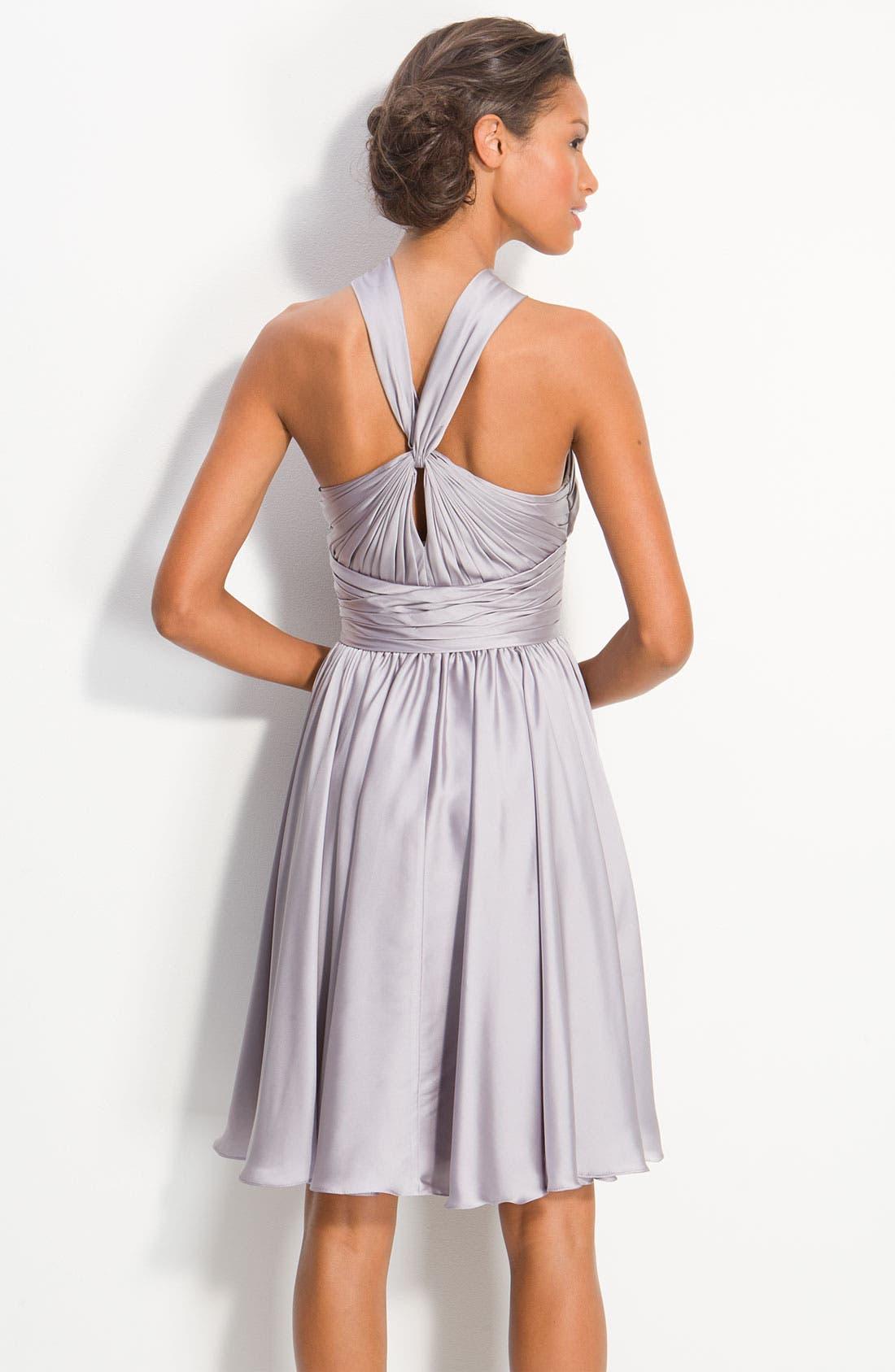 Alternate Image 2  - ML Monique Lhuillier Bridesmaids Twist Front Charmeuse Dress (Nordstrom Exclusive)