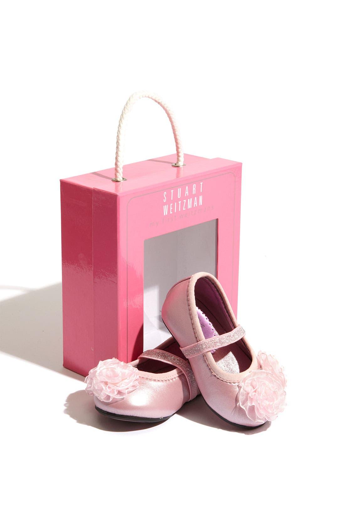 Alternate Image 4  - Stuart Weitzman 'Baby Bella' Crib Shoe (Baby)