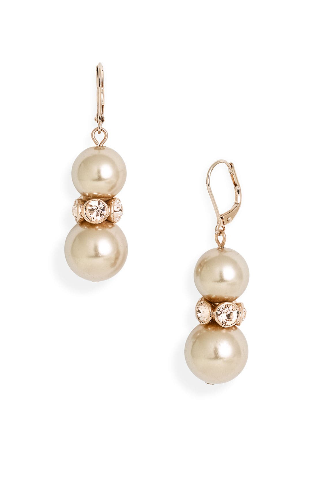 Main Image - Givenchy Double Drop Glass Pearl Earrings