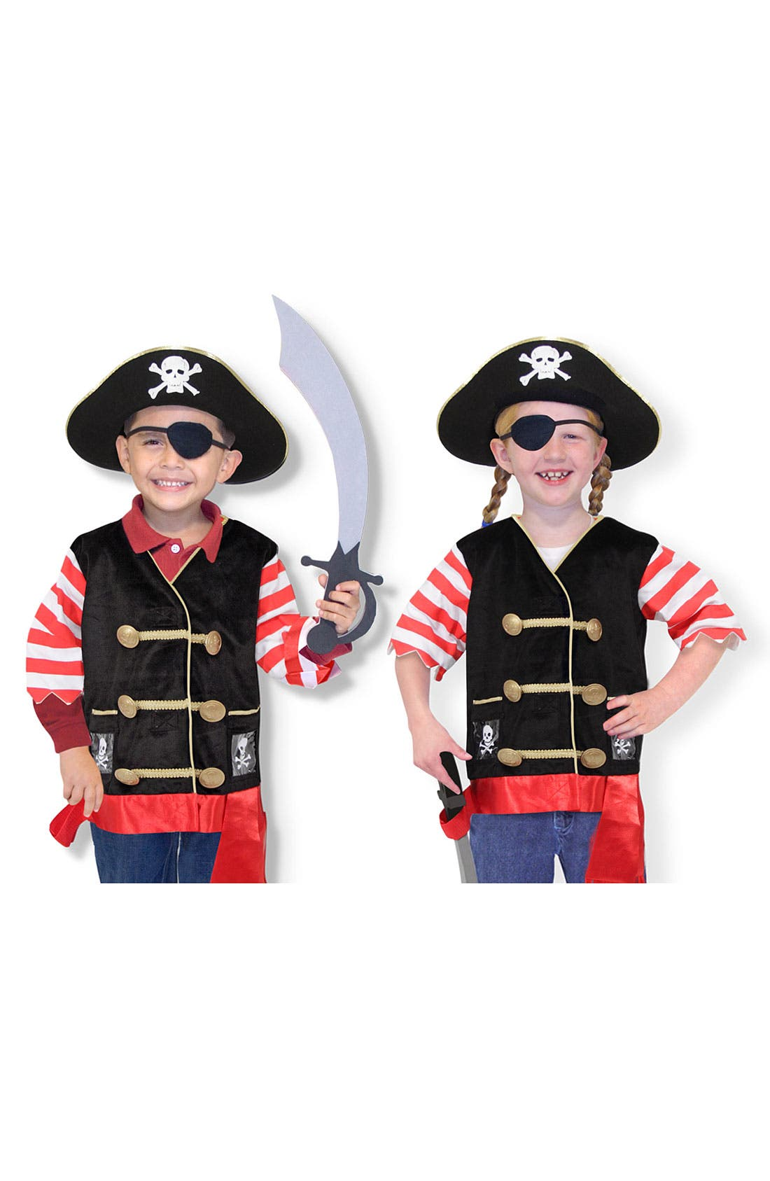 Main Image - Melissa & Doug Pirate Costume (Toddler)