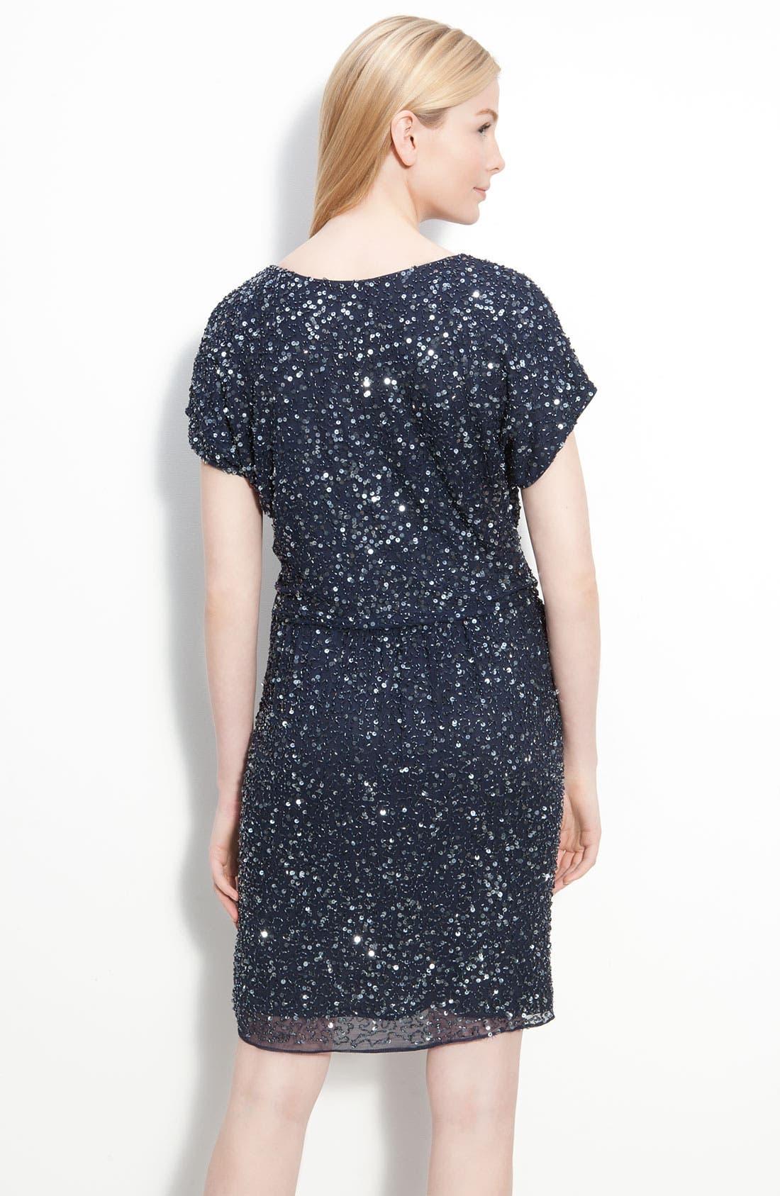Alternate Image 2  - Pisarro Nights Embellished Silk Chiffon Dress
