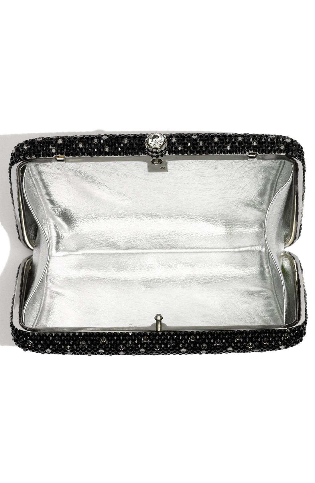 Alternate Image 3  - Natasha Couture Rhinestone Box Clutch