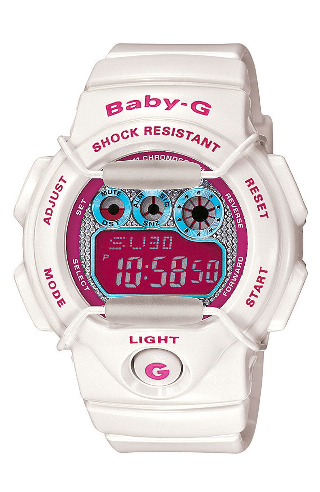 Alternate Image 1 Selected - Baby-G 'Tropical Paradise' Digital Watch, 44m x 40mm
