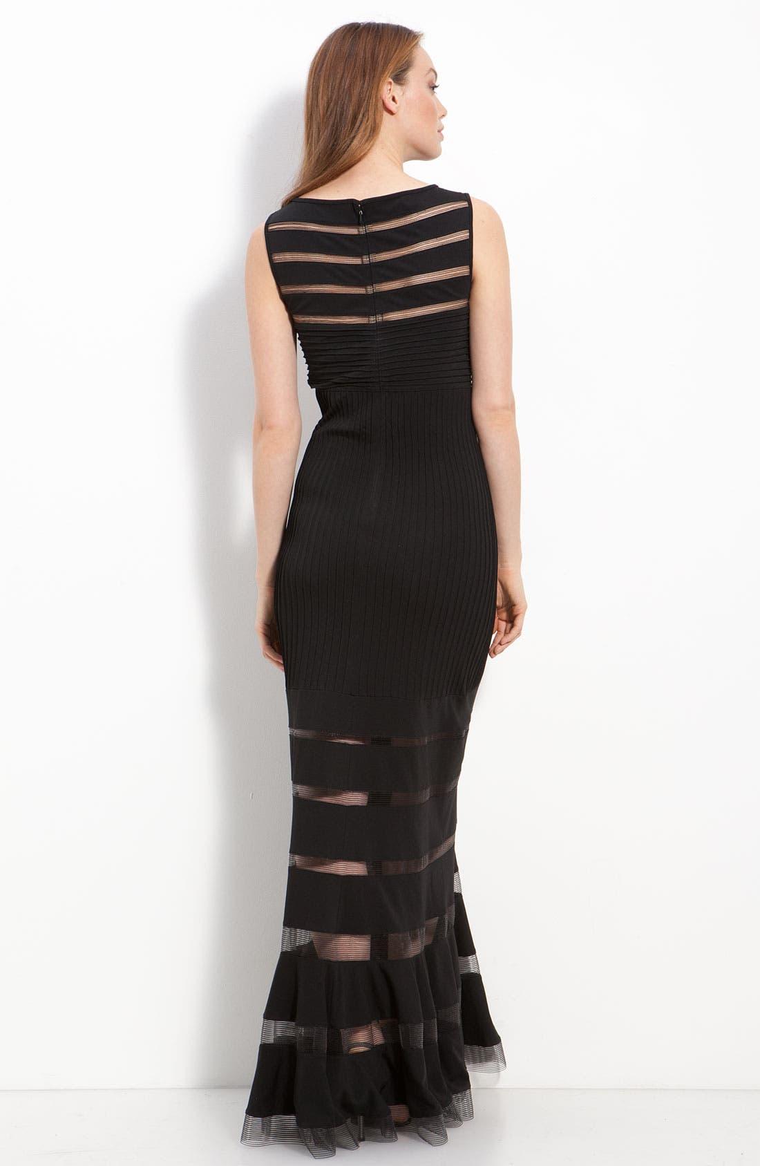 Alternate Image 2  - Tadashi Shoji Jersey Illusion Gown