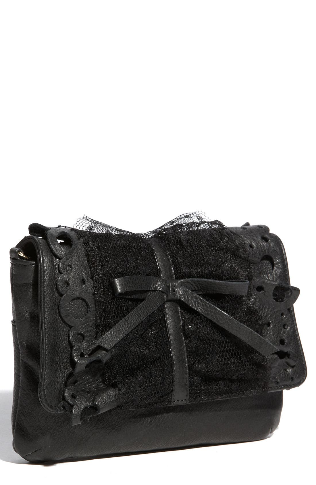 Main Image - RED Valentino 'Lace Ruffle' Clutch