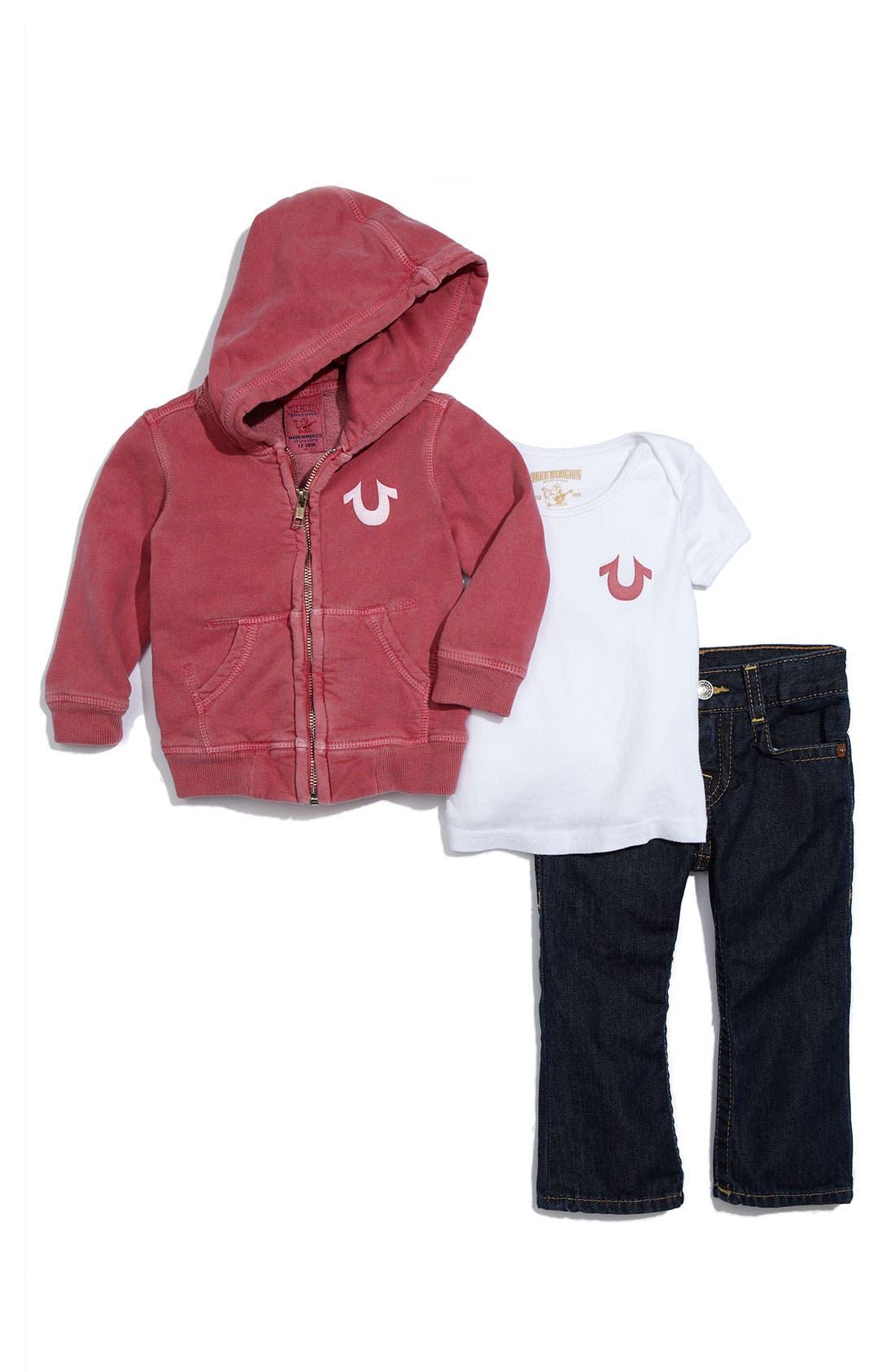 Alternate Image 1 Selected - True Religion Brand Jeans 3-Piece Gift Set (Infant)