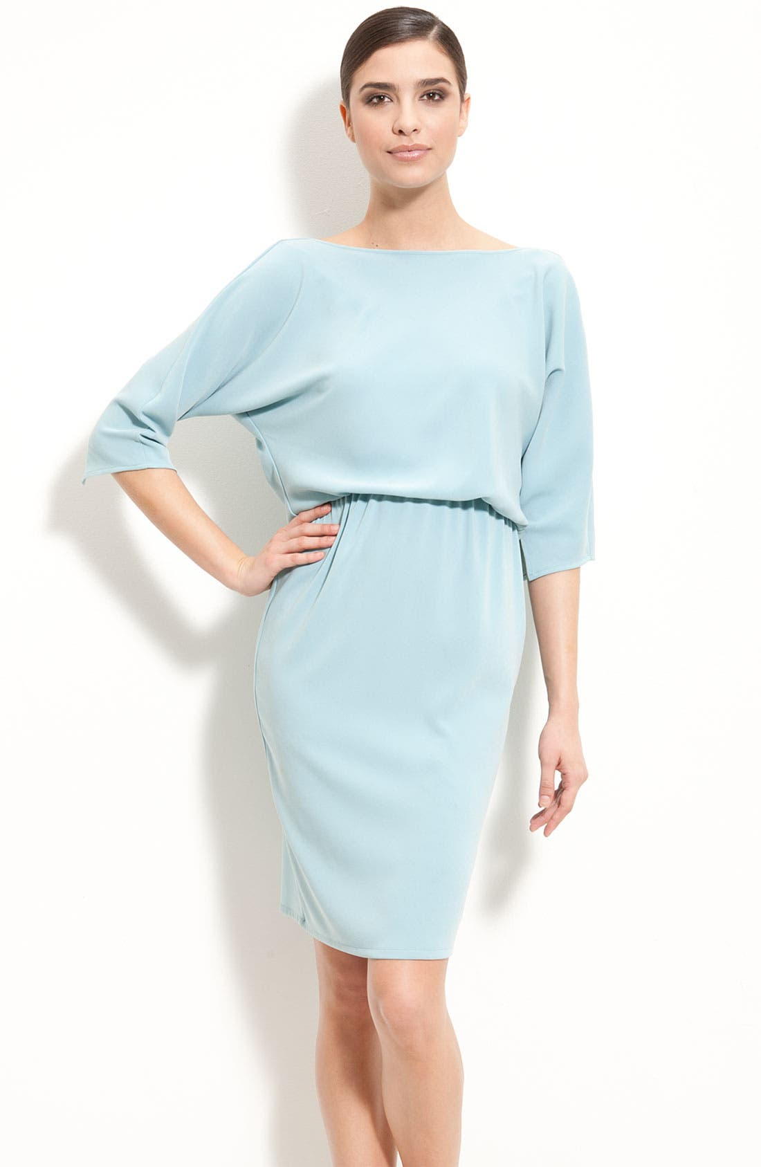 Main Image - St. John Collection Batwing Sleeve Dress with Cowl Back