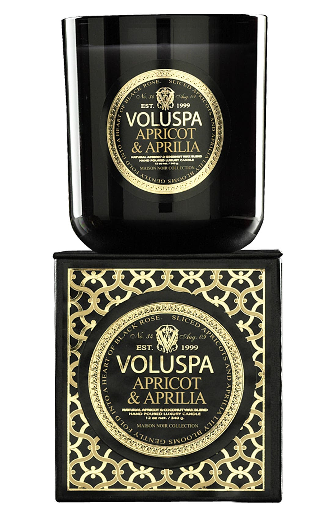 Alternate Image 1 Selected - Voluspa 'Maison Noir - Apricot & Aprilia' Scented Candle