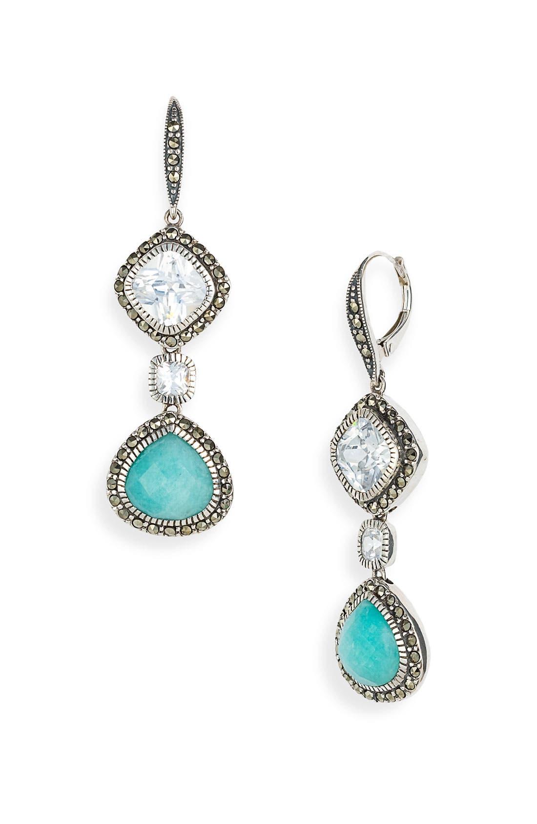 Alternate Image 1 Selected - Judith Jack 'Aquarius' Linear Drop Earrings